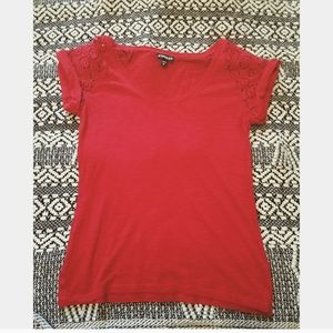 Express red t shirt blouse